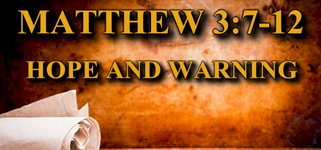 "KEY VERSE: Matthew 3:7-12 ESV 7 But when he saw many of the Pharisees and Sadducees coming to his baptism, he said to them, ""You brood of vipers! Who warned […]"