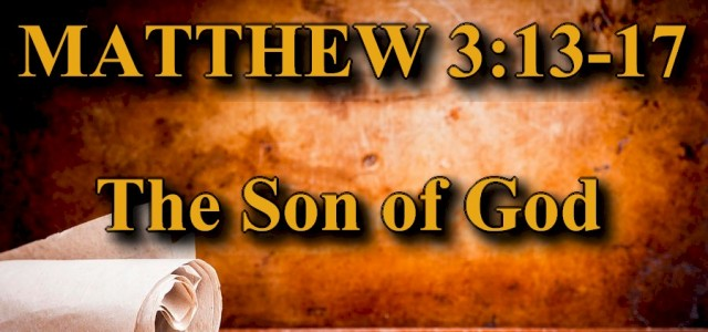 "KEY VERSE: Matthew 3:13-17 ESV 13 Then Jesus came from Galilee to the Jordan to John, to be baptized by him.  14 John would have prevented him, saying, ""I need […]"