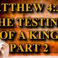 "KEY VERSE: Matthew 4:3-11 (ESV) 3 And the tempter came and said to him, ""If you are the Son of God, command these stones to become loaves of bread."" 4 […]"