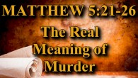"KEY VERSE: Matthew 5:21-26 (ESV) 21 ""You have heard that it was said to those of old, 'You shall not murder; and whoever murders will be liable to judgment.' 22 […]"