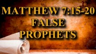 "KEY VERSE: Matthew 7:15-20 (ESV) 15 ""Beware of false prophets, who come to you in sheep's clothing but inwardly are ravenous wolves. 16 You will recognize them by their fruits. […]"