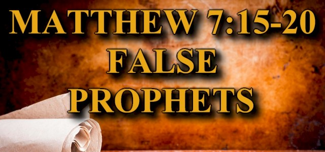 """KEY VERSE: Matthew 7:15-20 (ESV) 15 """"Beware of false prophets, who come to you in sheep's clothing but inwardly are ravenous wolves. 16 You will recognize them by their fruits. […]"""