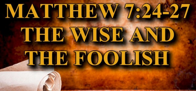 """BIBLE STUDY KEY VERSE: Matthew 7:24-27 (ESV) 24""""Everyone then who hears these words of mine and does them will be like a wise man who built his house on the […]"""