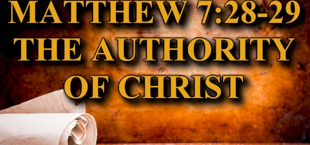 BIBLE STUDY KEY VERSE: Matthew 7:28-29 (ESV) 28 And when Jesus finished these sayings, the crowds were astonished at his teaching, 29for he was teaching them as one who had […]